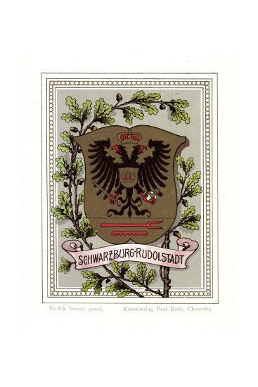 Wappen Schwarzburg Rudolstadt, Adler, Eichenbl?tter--Giclee Print