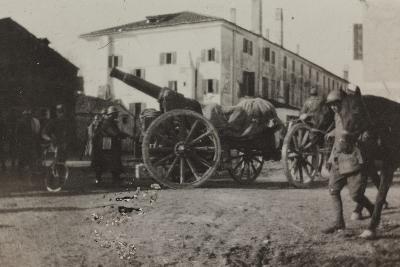 War Campaign 1917-1920: Cannon in a Square in Gorizia--Photographic Print
