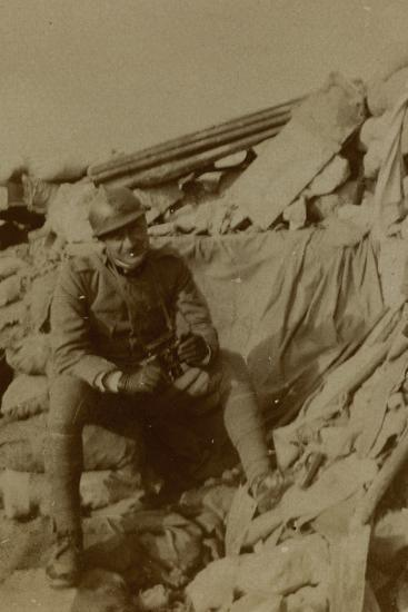 War Campaign 1917-1920: Captain Lecconi at Altitude Mountain 11, Recently Won--Photographic Print