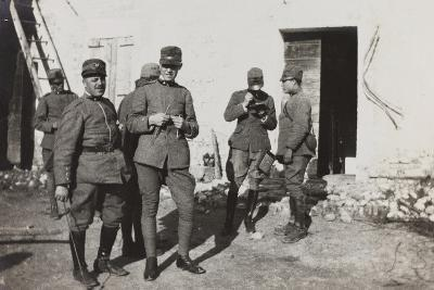 War Campaign 1917-1920: Group of Officers, Cavrie--Photographic Print