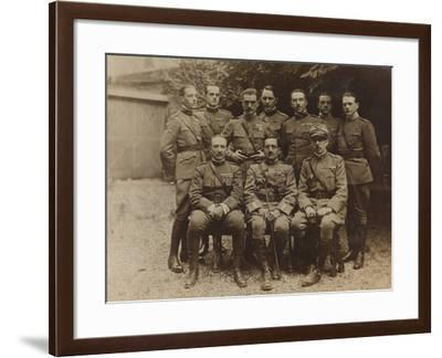 War Campaign 1917-1920: Group Photo of Soldiers and Officers--Framed Photographic Print