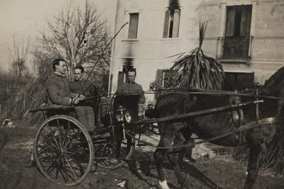 War Campaign 1917-1920: Soldiers Aboard a Horse-Drawn Carriage to Cavrie--Photographic Print