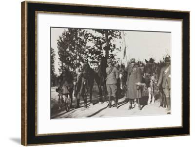 War Campaign 1917-1920: Soldiers During the March of Retreat Cornovado--Framed Photographic Print
