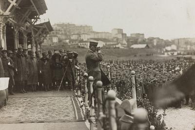War Campaign 1917-1920: Trieste February 19, 1919, Emanuele Filiberto Di Savoia Duca D'Aosta--Photographic Print