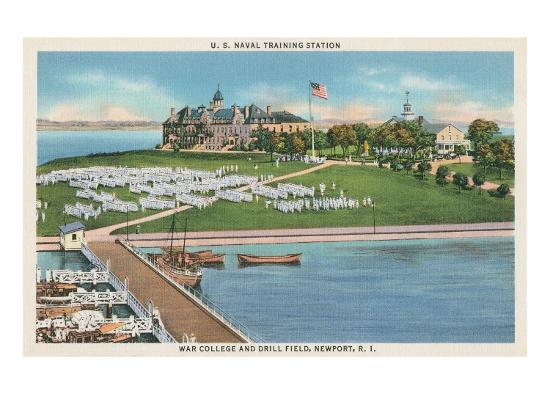 War College, Newport, Rhode Island--Art Print