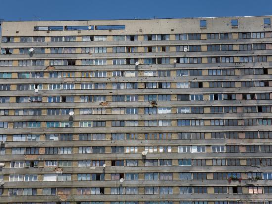 War Damaged Apartment Block, Sarajevo, Bosnia, Bosnia-Herzegovina-Graham Lawrence-Photographic Print