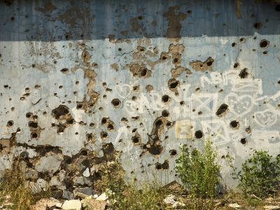 War Damaged Building, Sarajevo, Bosnia, Bosnia-Herzegovina-Graham Lawrence-Photographic Print