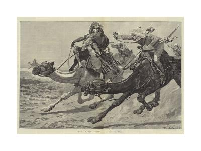 War in the Desert, a Running Fight-Richard Caton Woodville II-Giclee Print