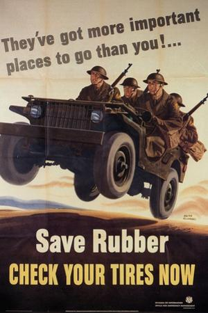 War Information poster, Save Rubber, National Museum of American History, Archives Center