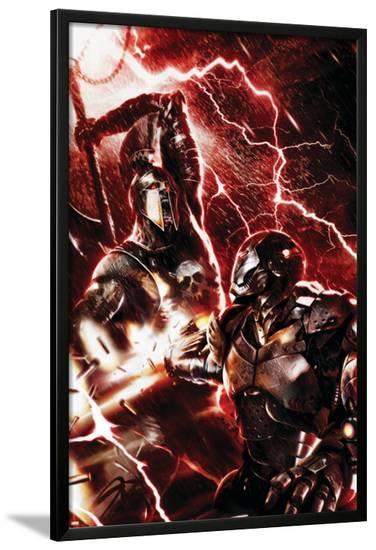 War Machine No.3 Cover: War Machine and Ares-Francesco Mattina-Lamina Framed Poster