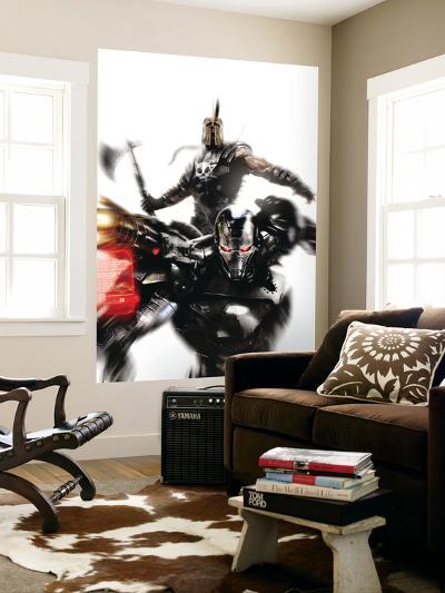 War Machine No.4 Cover: War Machine and Ares Fighting-Francesco Mattina-Wall Mural