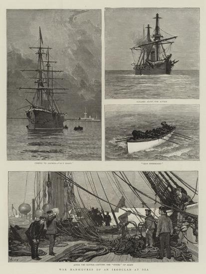 War Manoeuvres of an Ironclad at Sea-Joseph Nash-Giclee Print