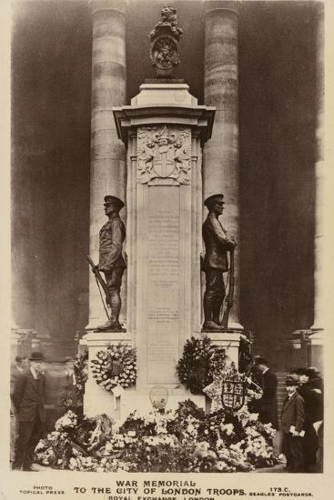 War Memorial to the City of London Troops, Royal Exchange, London--Photographic Print