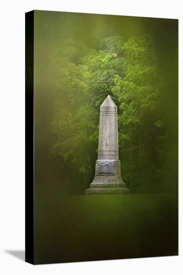 War Monument in Spring-Jai Johnson-Stretched Canvas Print