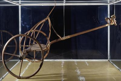War or Hunting Chariot in Bone and Wood, from Thebes BC--Giclee Print