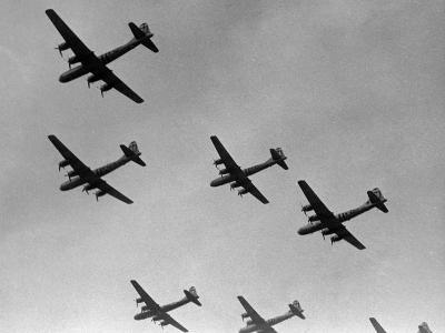 War Scene of Planes in the Sky-George Marks-Photographic Print