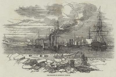 War-Steamers in Kingstown Harbour--Giclee Print
