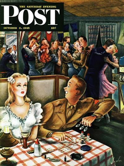 """War Stories,"" Saturday Evening Post Cover, October 6, 1945-Constantin Alajalov-Giclee Print"