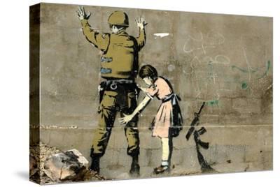 War-Banksy-Stretched Canvas Print