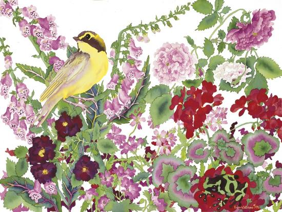 Warbler With Frog-Carissa Luminess-Giclee Print