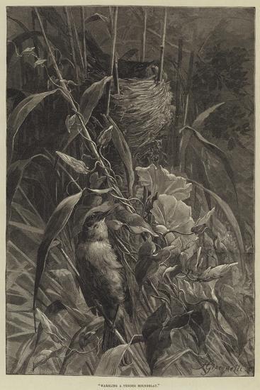 Warbling a Tender Roundelay--Giclee Print