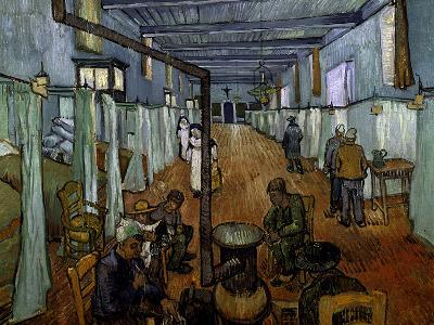 Ward in the Arles Hospital-Vincent van Gogh-Giclee Print