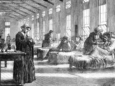 Ward in the Hampstead Smallpox Hospital, 1871--Giclee Print