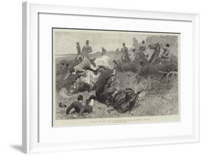Ware Wire!, an Incident in the Hunting Field-John Charlton-Framed Giclee Print