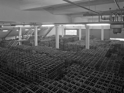 Warehouse Full of Crates of Bottles, Ward and Sons, Swinton, South Yorkshire, 1960-Michael Walters-Photographic Print