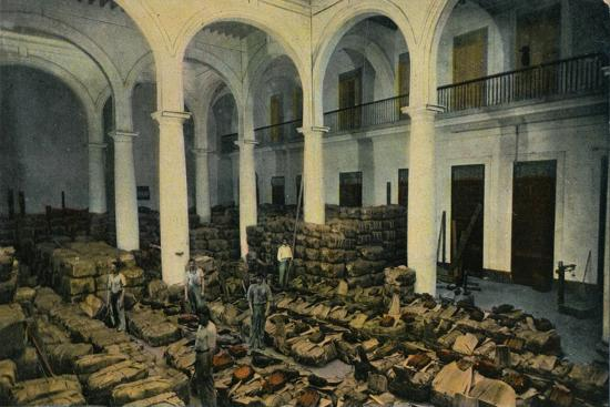 Warehouse of Leaf Tobacco, Havana, Cuba, c1910s-Unknown-Giclee Print