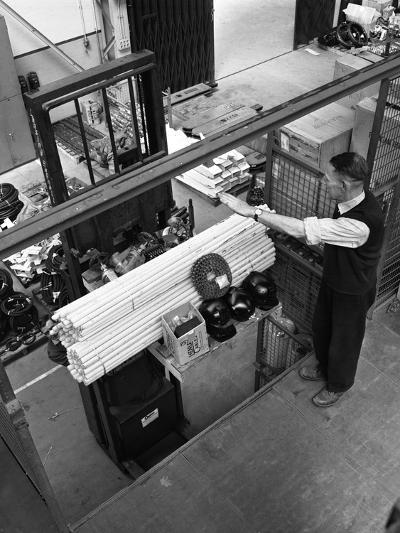 Warehouseman Loading a Fork Lift Truck in the Stores, Bestwood Colliery, Nottinghamshire, 1962-Michael Walters-Photographic Print