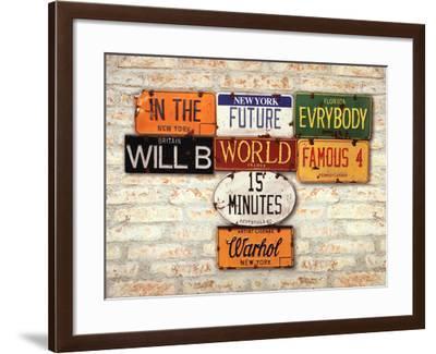 Warhol, Famous-Greg Constantine-Framed Art Print