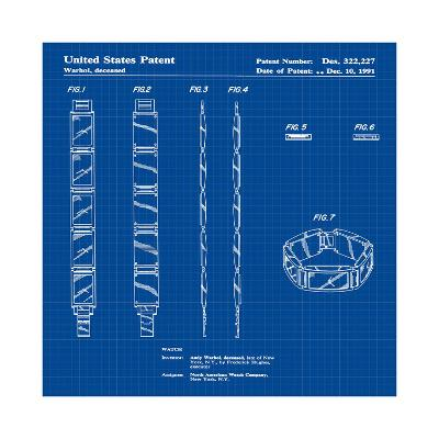 Warhol Watch, 1991- Blue-Bill Cannon-Giclee Print