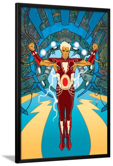 Warlock No.1 Cover: Adam Warlock Charging-J.D. Cuban-Lamina Framed Poster