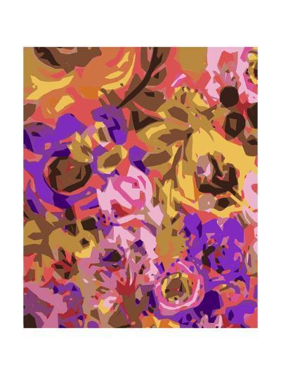 Warm Abstract Floral I-Karen  Fields-Art Print