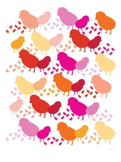Warm Chick Pattern-Avalisa-Art Print