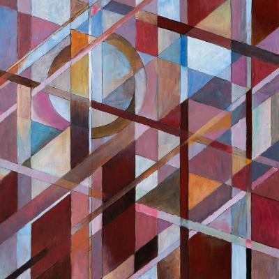 Warm Diagonals-clivewa-Art Print