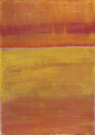 Warm Horizontal Abstract-Marie C^ Wattin-Art Print