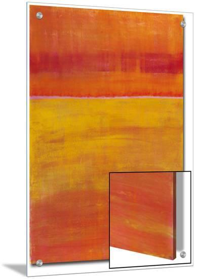Warm Horizontal Abstract-Marie C^ Wattin-Art on Acrylic
