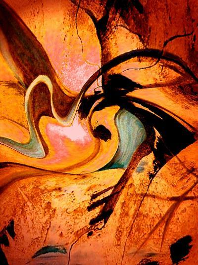 Warm, Red and Winding-Ruth Palmer-Art Print