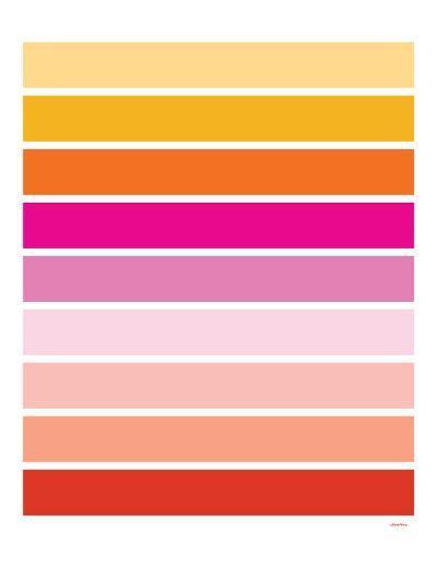 Warm Stripes-Avalisa-Art Print