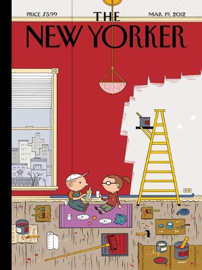 Warmth - The New Yorker Cover, March 19, 2012-Ivan Brunetti-Premium Giclee Print