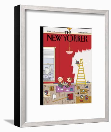 Warmth - The New Yorker Cover, March 19, 2012-Ivan Brunetti-Framed Premium Giclee Print