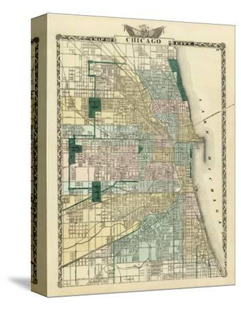 Map of Chicago City, c.1876