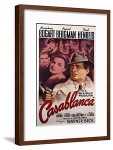 Warner Brothers Poster for the Film 'Casablanca', 1942