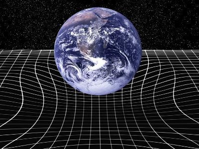 Warped Space-time Due To Gravity-Victor De Schwanberg-Photographic Print