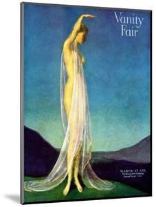 Vanity Fair Cover - March 1917 by Warren Davis