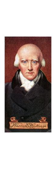 Warren Hastings, taken from a series of cigarette cards, 1935. Artist: Unknown-Unknown-Giclee Print