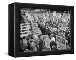 Civil Rights March on Washington, D.C. with Martin Luther King Jr. by Warren K^ Leffler