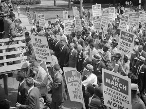 Civil Rights March on Washington, D.C. with Martin Luther King Jr. by Warren K. Leffler